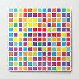 City Blocks - Rainbow #494 Metal Print