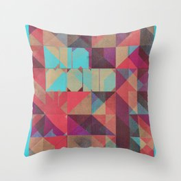 Risograph 1/Diamond Throw Pillow