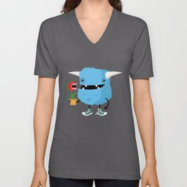 Monster and his pet plant carnivore Unisex V-Neck