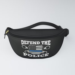 Defend The Police Thin Blue Line Law Enforcement Fanny Pack