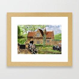Spruisty bridge, Harrogate, North Yorkshire in England  Framed Art Print