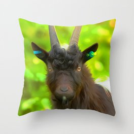 Goat Art For Animal Lover Throw Pillow