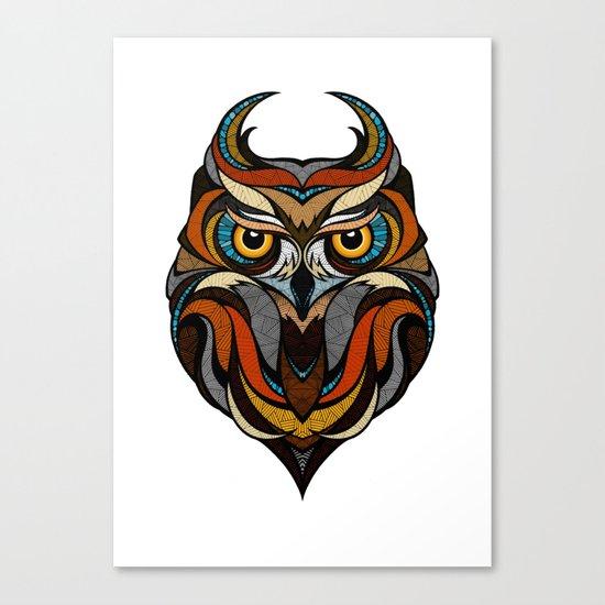 Oldschool Owl Canvas Print