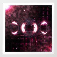 SpaceAbstract Art Print