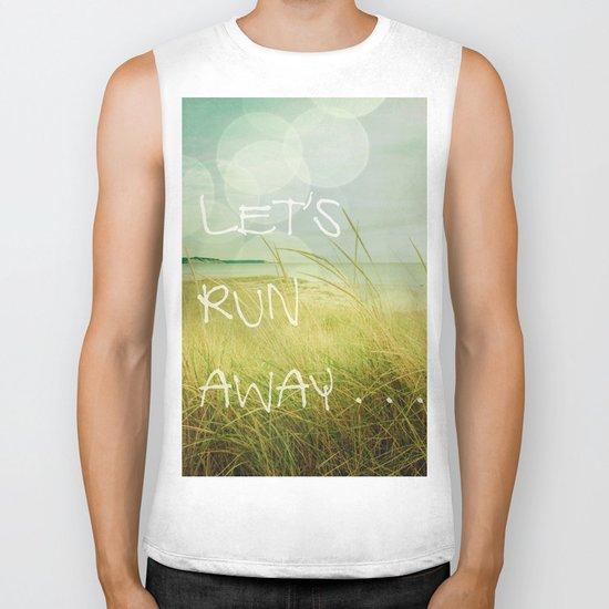 Let's Run Away Biker Tank