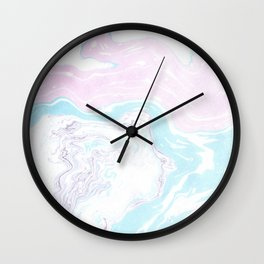 Colorful Waves Marbling Wall Clock