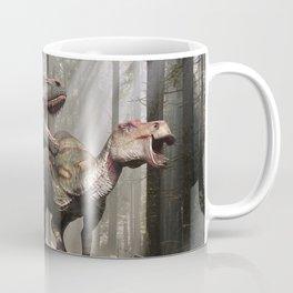 Tyrannosaurus hunting edmontosaurus Coffee Mug