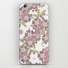 Pearl floral 3D texture . iPhone & iPod Skin
