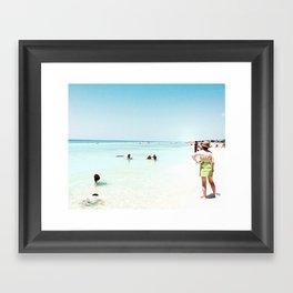 Day at the beach serie #1 Framed Art Print