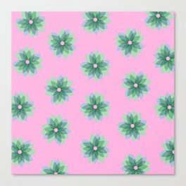 Geo Spring Flowers 03 Canvas Print
