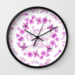 Sweet Dreams - Pink Wall Clock