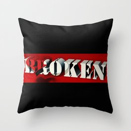 BROKEN HEART Throw Pillow