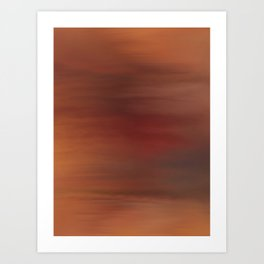 Red sky abstract Art Print