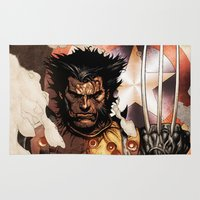 x men Area & Throw Rugs featuring X-MEN by Thorin