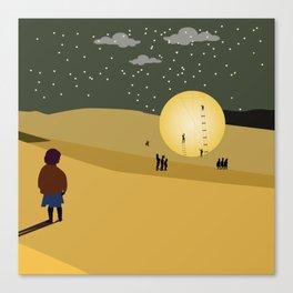 Moon Under Construction Canvas Print