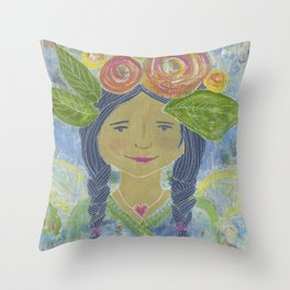 Angel Warrior Maritza Throw Pillow