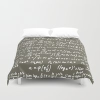 math Duvet Covers featuring Math by beach please