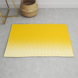 Yellow Dot Ombre to White Rug