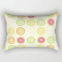 Fun Yellow Citrus Slice Pattern Rectangular Pillow