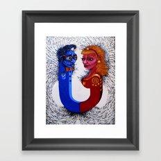 Opposites Attract Framed Art Print