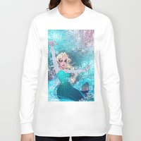 frozen elsa Long Sleeve T-shirts featuring Frozen Elsa by Teo Hoble