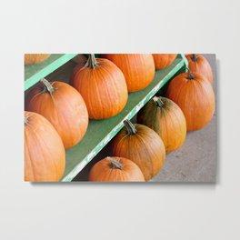 The Pumpkin Stand Metal Print