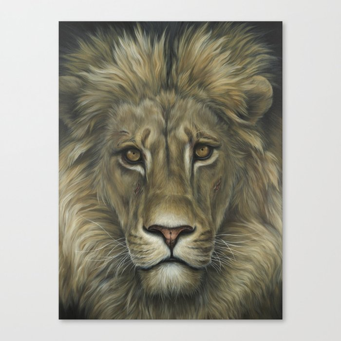Lion Animal Painting Realism Wildlife Art Home Decor Father S Day Canvas