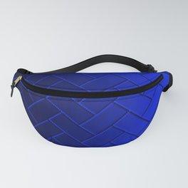 Herringbone Gradient Dark Blue Fanny Pack