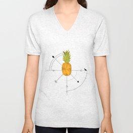 Pineapple Compass Unisex V-Neck