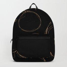 Minimalist Gold Circle Backpack