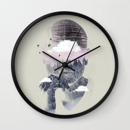 Contemplating Dome Wall Clock