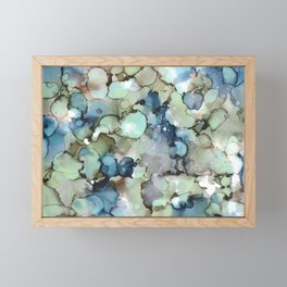 Alcohol Ink Sea Glass Framed Mini Art Print