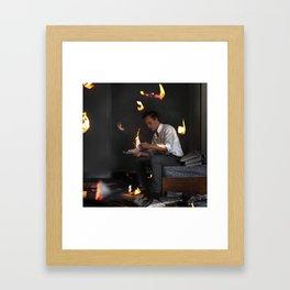 Burning Memories Framed Art Print