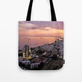 Limassol Skyline Tote Bag