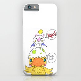 Moogle and Chocochick iPhone Case