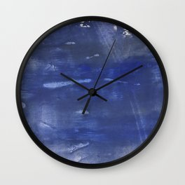 Dark slate blue Wall Clock