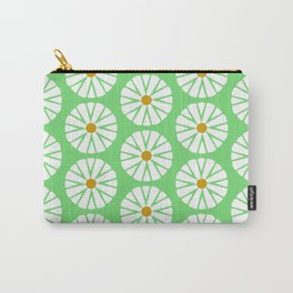 Botanical Daisies Minimal Pattern - #02 Carry-All Pouch