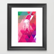 Raspberry Popsicle Framed Art Print