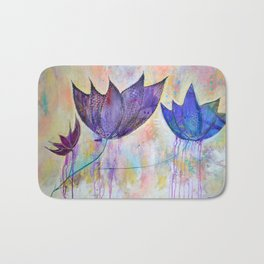 Just do you, trio of abstract lotus flowers Bath Mat