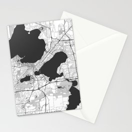 Madison Map Gray Stationery Cards