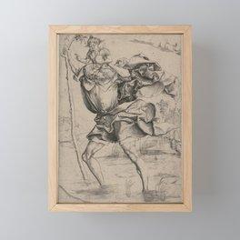 St. Christopher Carrying the Christ Child Framed Mini Art Print