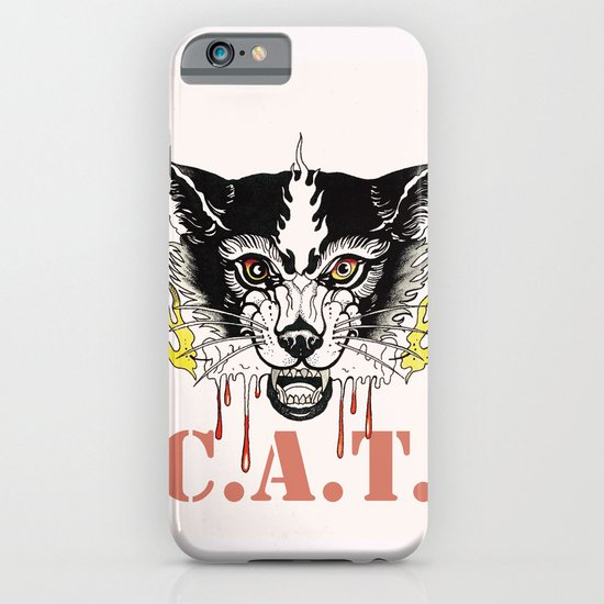 Space Cat King Fire iPhone & iPod Case