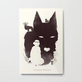 Mononoke Hime Metal Print
