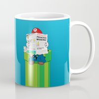 mario kart Mugs featuring Mario by Altay