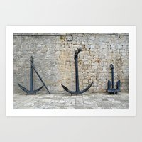 Anchors Away Croatia Art Print