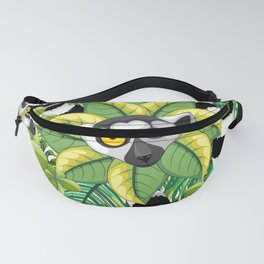 Lemurs on Madagascar Rainforest Fanny Pack