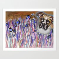 Boxer eyes Buzzing Bee Art Print