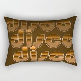 Metallic Seventies Disco Emblem Rectangular Pillow