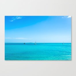 Bright Blue Ocean Canvas Print