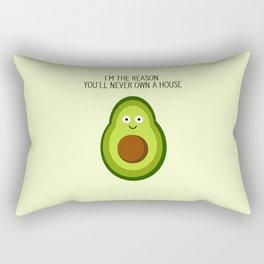 Smug Avocado Rectangular Pillow